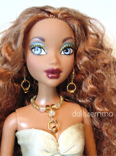 MY SCENE BARBIE CLOTHES Sexy Gold Dress, Purse & Jewelry HM Fashion NO DOLL d4e