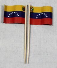 Party-Picker Venezuela 50 St Dekopicker Profiqualität Papierfähnchen Flagge Food