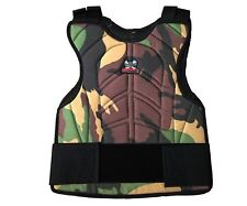 Maddog Padded Chest Protector Paintball Airsoft Woodland Camo