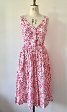 Laura Ashley Vintage Floral Cotton Dress Immaculate UK 12