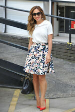 BNWT MYLEENE KLASS FLORAL PRINTED SCUBA FULL SKIRT SIZE 18 WITH SIDE POCKETS