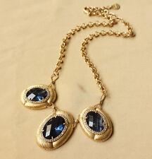 Collar Mujer Colgante Azul Cristal Original Moderno Matrimonio Regalo Carol 2