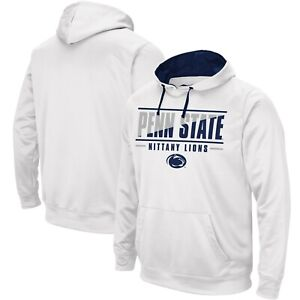 Penn State Nittany Lions NCAA Fanatics White Slash Stack Pullover Hoodie 2XL New