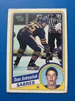 Dave Andreychuk Rookie 1984-85 O-Pee-Chee Hockey Card #17 Buffalo Sabres