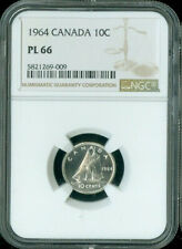 1964 Canada 10 CENT NGC PL66 ***