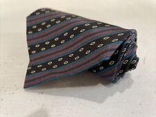 Giorgio Armani Men's Black Striped Silk Neck Tie $178