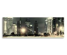 Urbane Fotografie – Großstadtlichter in Shanghai, China auf Leinwand