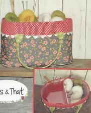 Crafty Basket machine piecing quilt pattern by Sherri K. Falls of This & That