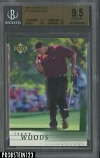 2001 Upper Deck Golf #1 Tiger Woods RC Rookie BGS 9.5 GEM MINT