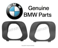 For BMW E53 X5 Pair Set of 2 Rear Coverings For Bumper Cover Tail Pipe Opening