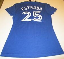 Ladies Women's Toronto Blue Jays Royal Marco Estrada Small Name Number T Shirt