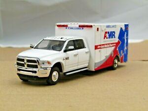 dcp/greenlight Custom white AMR Ram 3500 Ambulance no box 1/64.