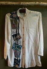 CITRON Santa Monica Small Japanese theme white silk blouse