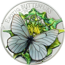 Mongolia 2017 Butterfily 500 Tugrik 3D Silver Coin,Proof
