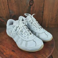 Nike White Lace Up Cheerleading Leather Dance Shoe Women Size 8 US 318686-111