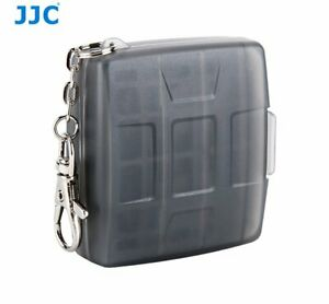 JJC MC-11D BLACK Memory Card Holder case fit for 4x SD, 4x MSD with key ring