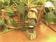 Cairn Studio Tom Clark Gnome ~Alphabet ~ U ~ Umbrella Mushroom Valentine! C.O.A.