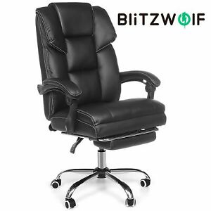 BlitzWolf Computer Reclining Recliner Executive Office Chair Seat with Footrest