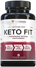 KETO FIT Exogenous Ketones Supplement, BHB Salts for Weight Loss, 60 Capsules