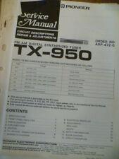 Pioneer TX-950 / TX-950L /TX-905L / TX-301L AM/FM Tuner Service Manual
