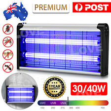 40W Electric UV Mosquito Fly Insect Killer Bug Zapper Trap Lamp Aluminum Light
