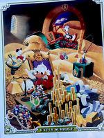 Uncle Scrooge Moneybin One Stop Poster 1987 Vintage Rare Disney