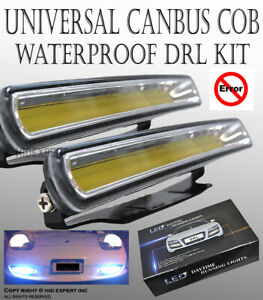 2x Universal Fit 7000K COB Auto LED Car daytime running light drl fog lamp M23