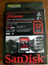 SanDisk Extreme sdhc uhs-1 card 32 gb 8 hrs