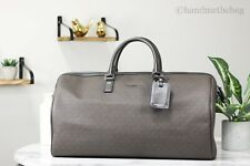 Michael Kors Harrison Extra Large Leather Brown Signature Duffle Travel Bag