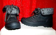 NEW ROCKET DOG PILOT CUFFED GRAY FOLD-OVER LACE-UP COMBAT STYLE ANKLE BOOTS SZ 6