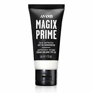 AVON Magix Prime Face Perfector Primer SPF 20 Make Up Matte NIB 1 oz VEGAN
