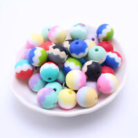 Round Silicone Beads Baby Teether Toys Jewelry DIY Teething Necklace Making 15mm