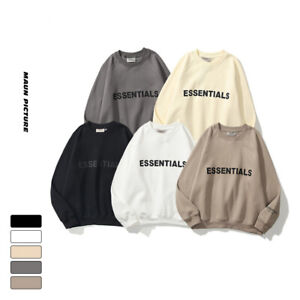 HOT FOG Essentials couples oversize pullover round neck fashion Men's sweater