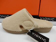 VIONIC WOMENS SLIPPERS GEMMA TAN SIZE 12