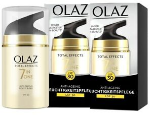2 x 50ml Olaz (Olay) Total Effects 7in1 Anti-Ageing Moisturiser SPF 30 Day Cream