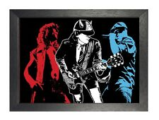 ACDC Artwork Classic Rock Band Picture Heavy Metal Legends Print Retro Poster