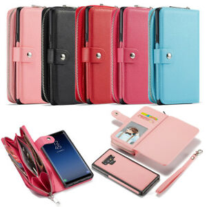 Zipper Phone Wallet Case Cover Purse for iPhone 13 Pro Max 8 Samsung Note 10 S10