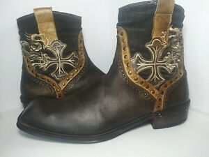 Mark Nason 67648 Men's Distressed Leather Rudd Boot Size 13 Made in Italy