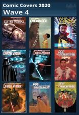 COMIC COVERS 2020-WAVE 4 SET-9 CARDS-TOPPS STAR WARS CARD TRADER DIGITAL
