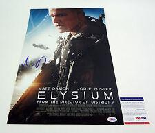 Matt Damon Signed Autograph Elysium Movie Poster PSA/DNA COA