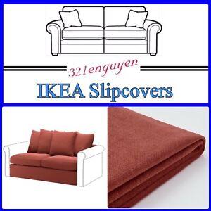 IKEA HARLANDA Sleeper Section Slipcover Cover Ljungen Light Red 204.552.02 NEW