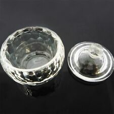 Round Glass Crystal Bowl Cup Dappen Dish Nail Art Liquid Powder Container C