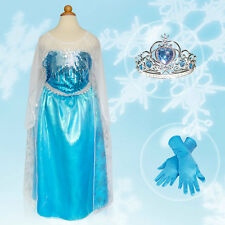 IN STOCK Frozen Elsa Dress Up Gown SIZE 3-4 (S) Costume Ice Princess Queen Anna