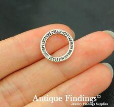 30pcs Antique Silver Charm Tibetan Silver Charm Ring Circle Pendant SC153