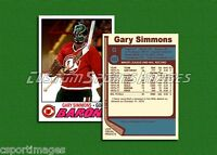 Gary Simmons - Cleveland Barons - Custom Hockey Card  - 1976-77