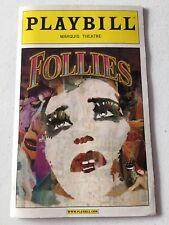 Follies Playbill Bernadette Peters Jan Maxwell Elaine Paige Mary Beth Peil