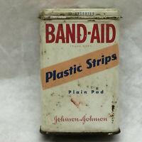 Vintage Tin Band Aid Box ONLY Johnson & Johnson
