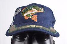 Kiss my Bass fishing baseball cap hook and loop Navy