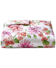 Charter Club Damask Designs Bouquet Cotton Full / Queen Comforter Poppy $200