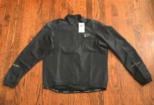 New Mens Pearl Izumi Black Long Sleeve Lightweight Bicycling Jacket Small